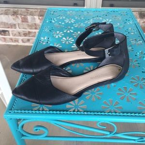 Franco Sarto Hewitt Leather D'orsay Ankle Flats 9